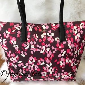 NWT Kate Spade Deep Cherry Young Lane Fabric Tote